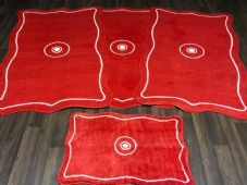 ROMANY WASHABLES TRAVELLER MATS SET NON SLIP LARGE SIZE BEST QUALITY, SHAPED RED